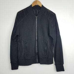 Alo | Black Zip Up Athletic Jacket Mesh Back